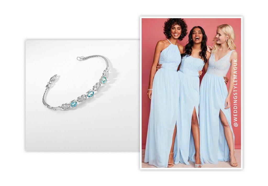 R&O Light Blue Bridesmaid Bracelet