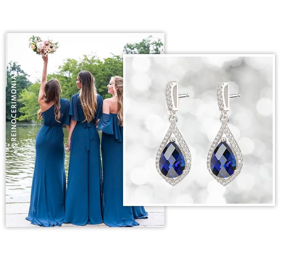 Sapphire Bridesmaid Earrings