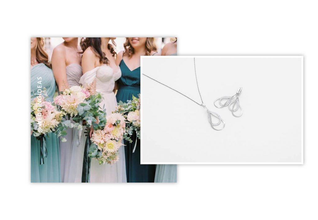 Ruby & Oscar Cubic Zirconia Bridesmaid Jewellery Set