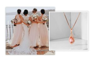 Bridesmaid Necklace Rose Gold