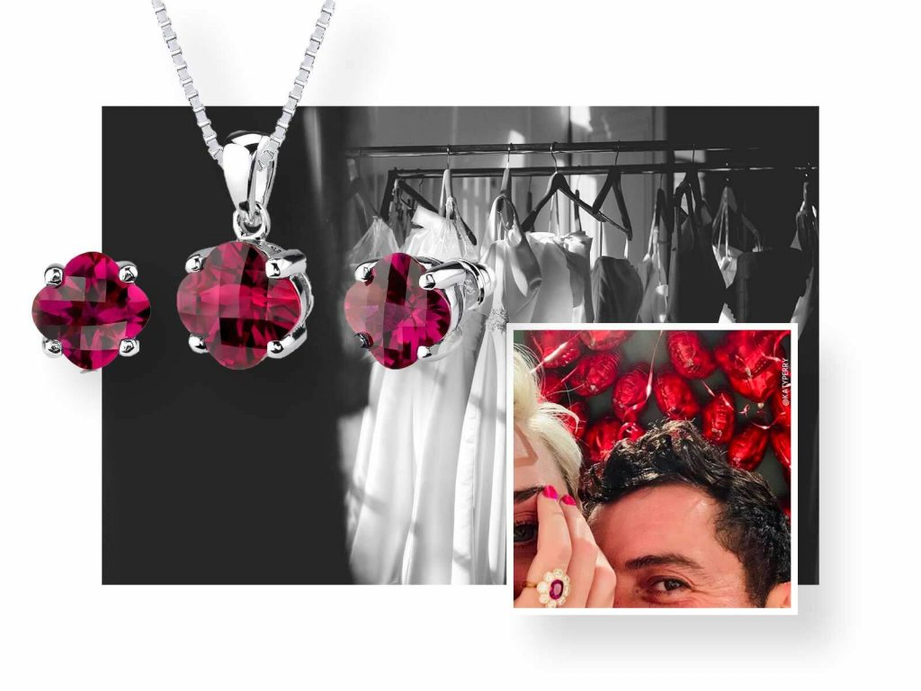 Ruby & Oscar Ruby and Sterling Silver Jewellery Set