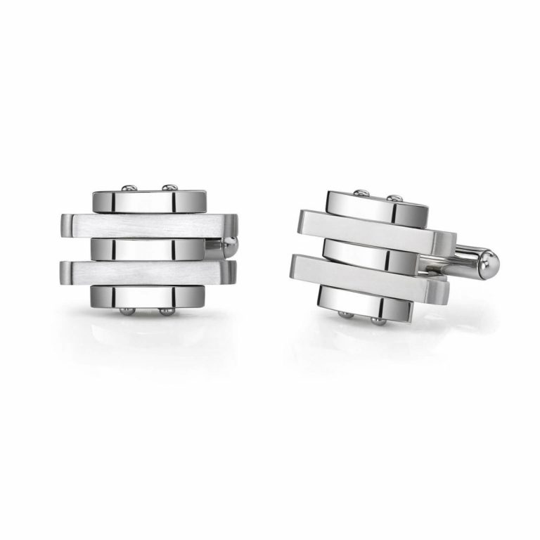Men's Cufflink in Stainless Silver