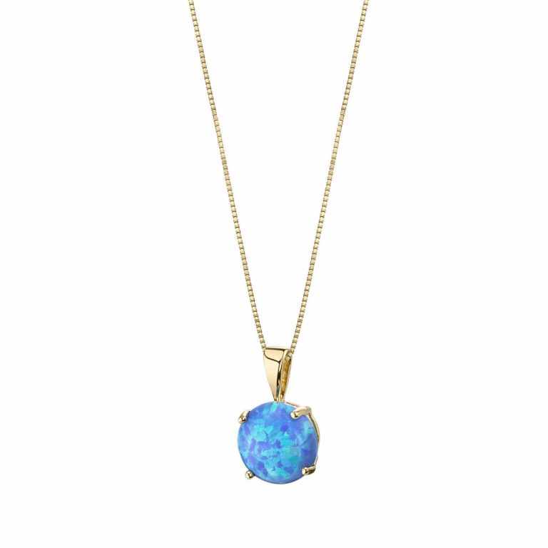 Opal Pendant Necklace in Gold Black Friday Sale