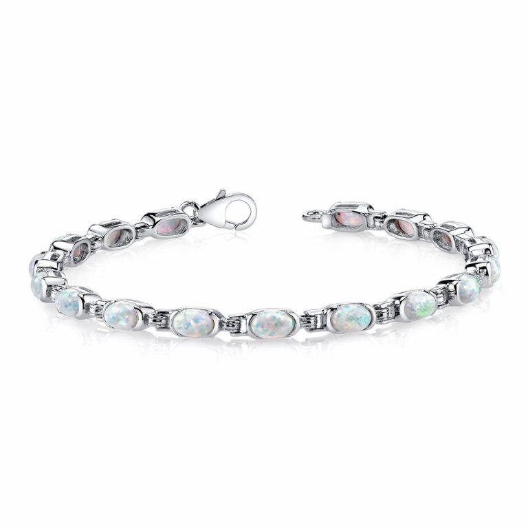 Opal Tennis Bracelet in Sterling Silver Black Friday Sale
