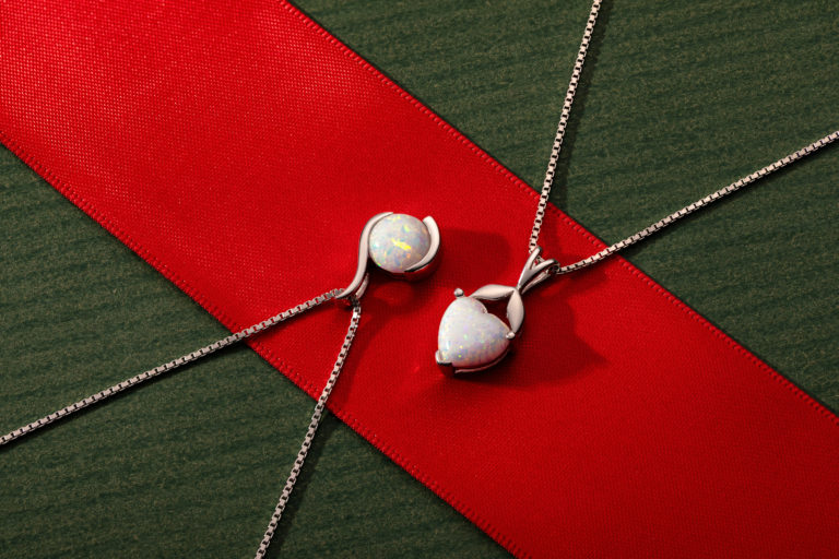 Reasons to Gift Jewellery this Christmas - Opal Pendant Necklaces