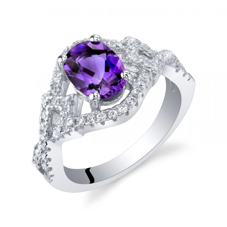 Amethyst Lace Ring in Sterling Silver