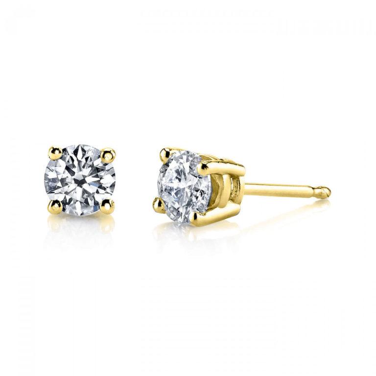 April Birthstone Diamond Stud Earrings in 9ct Gold