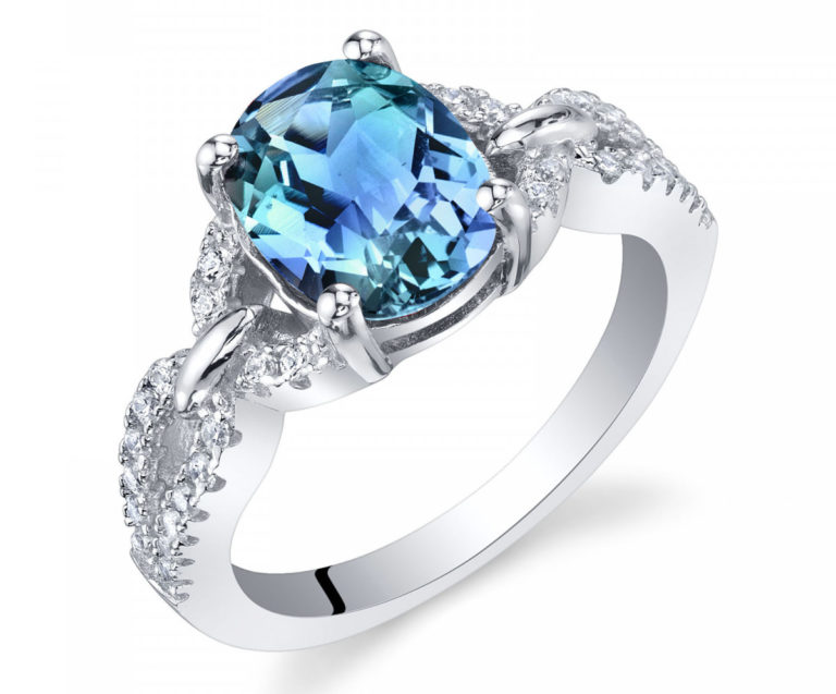 Alexandrite Forever Ring in Sterling Silver