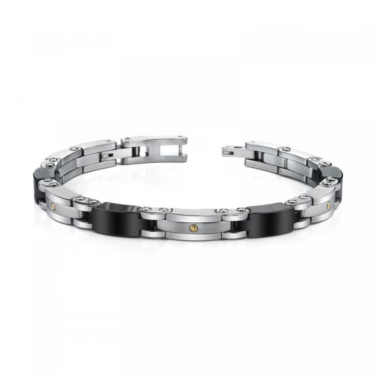 Men's Sleek Link Bracelet in Stainless Steel