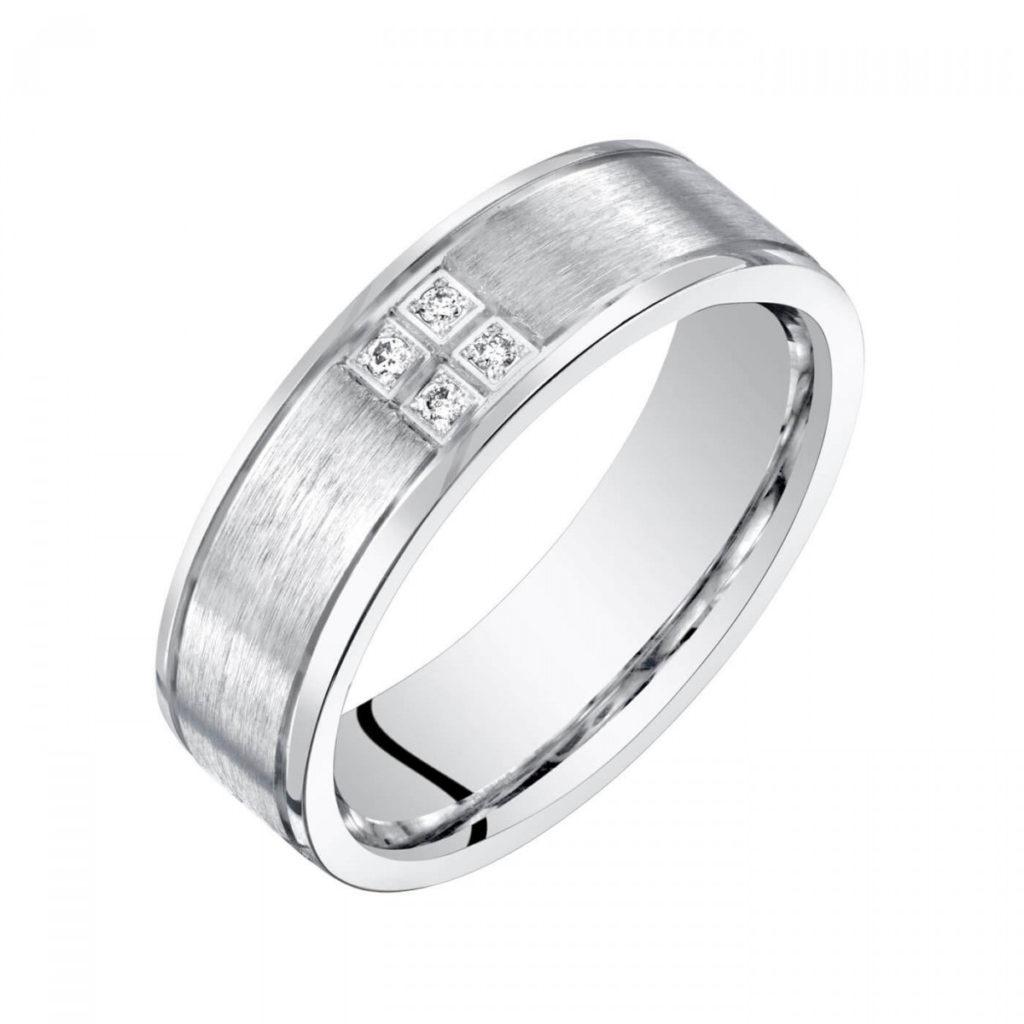 Men's Diamond Comfort Ring in Sterling Silver